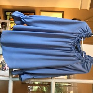 Talbots long sleeve blouse in periwinkle